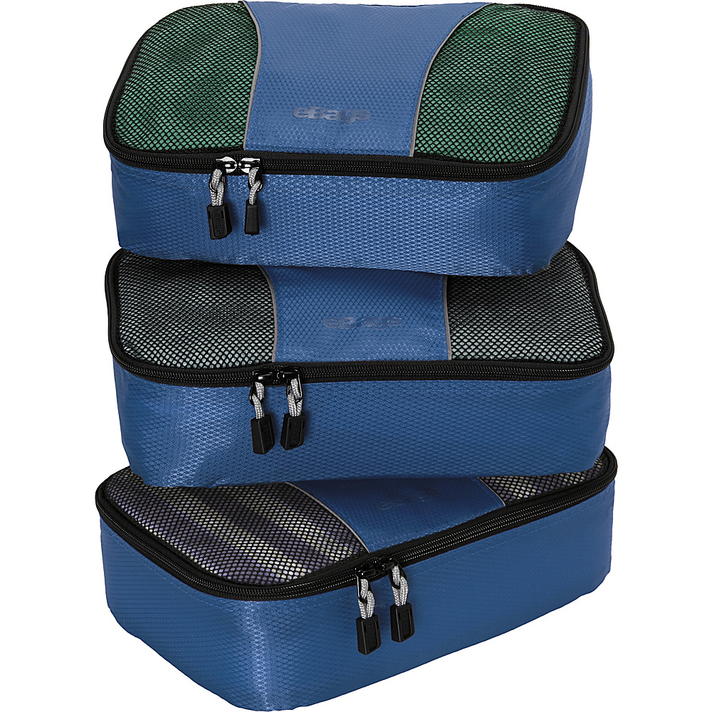 eBags Small Packing Cubes - 3pc Set - Denim - Travel Accessories, Travel Organizers