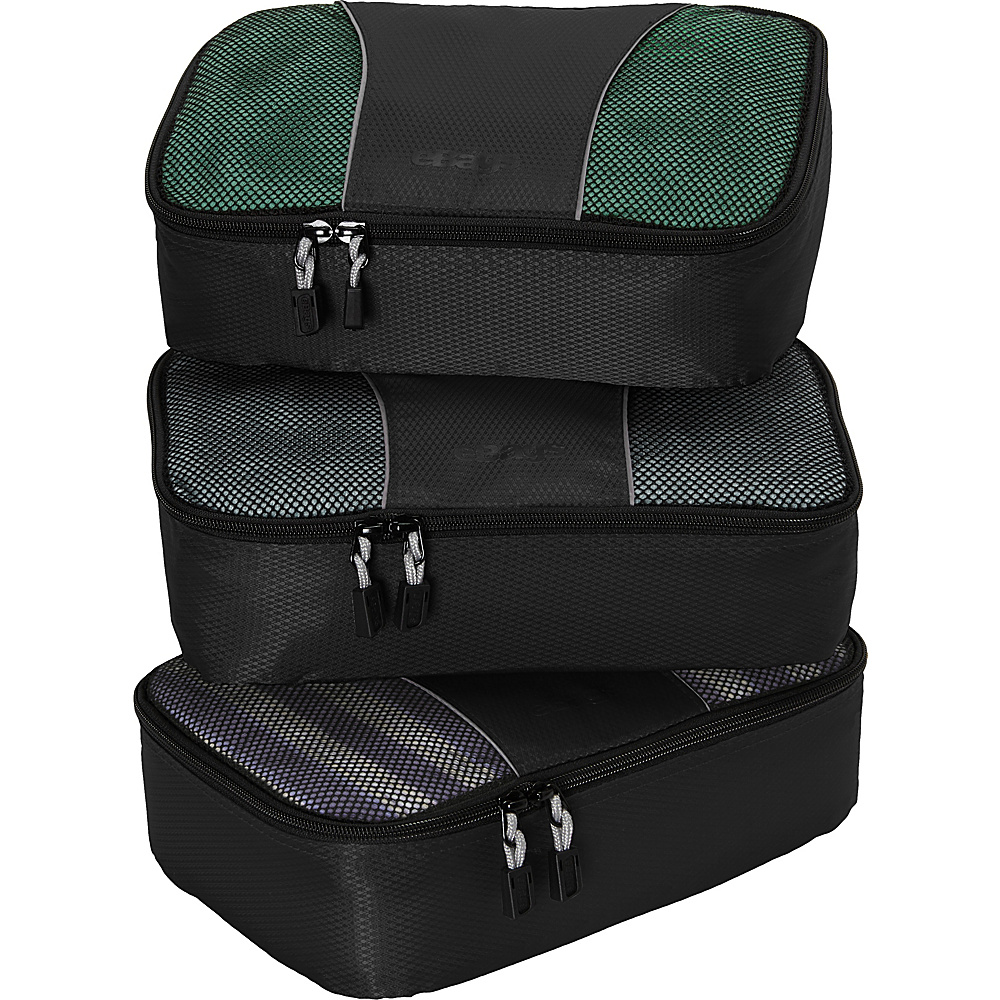 eBags Small Packing Cubes - 3pc Set - Black - Travel Accessories, Travel Organizers