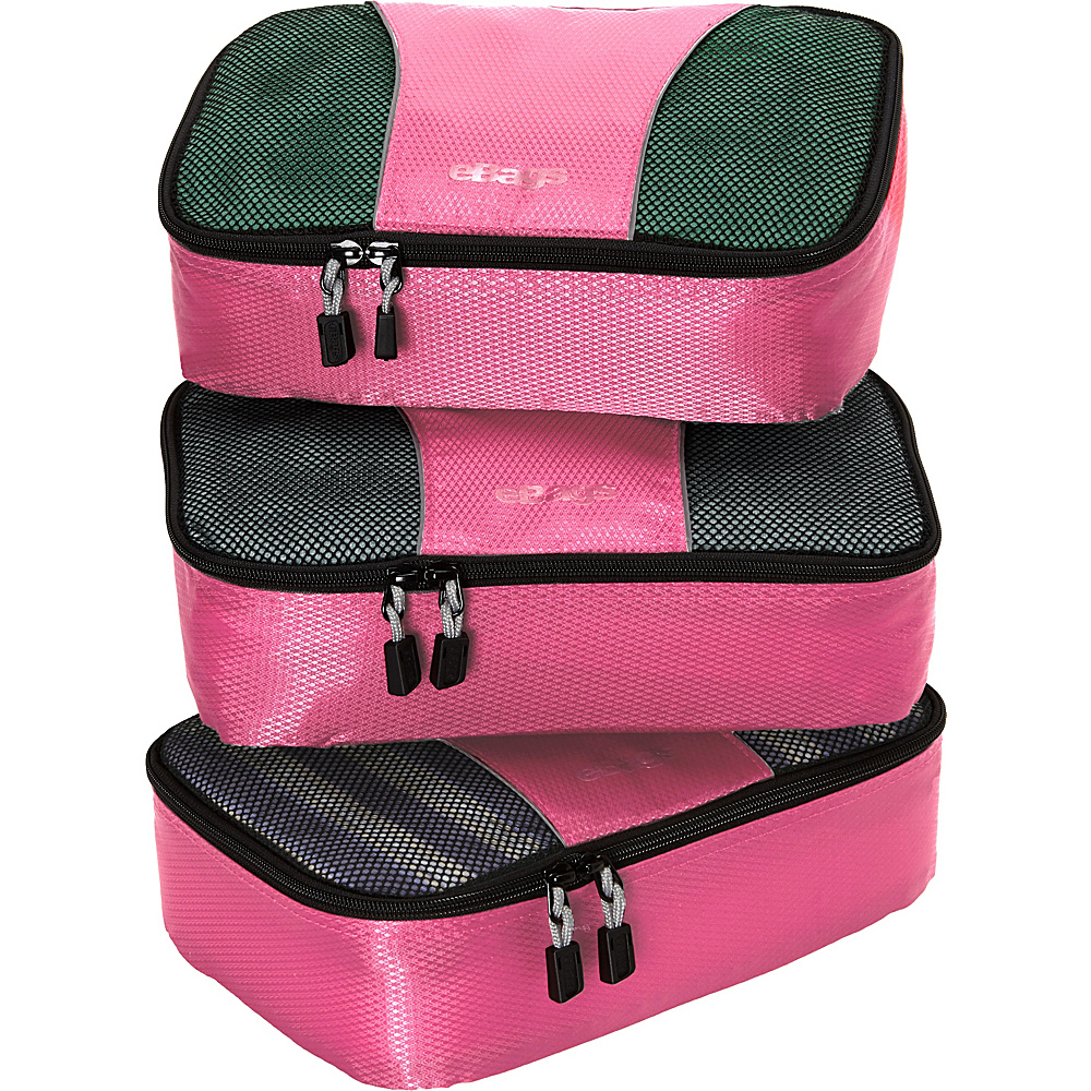 eBags Small Packing Cubes - 3pc Set - Peony - Travel Accessories, Travel Organizers