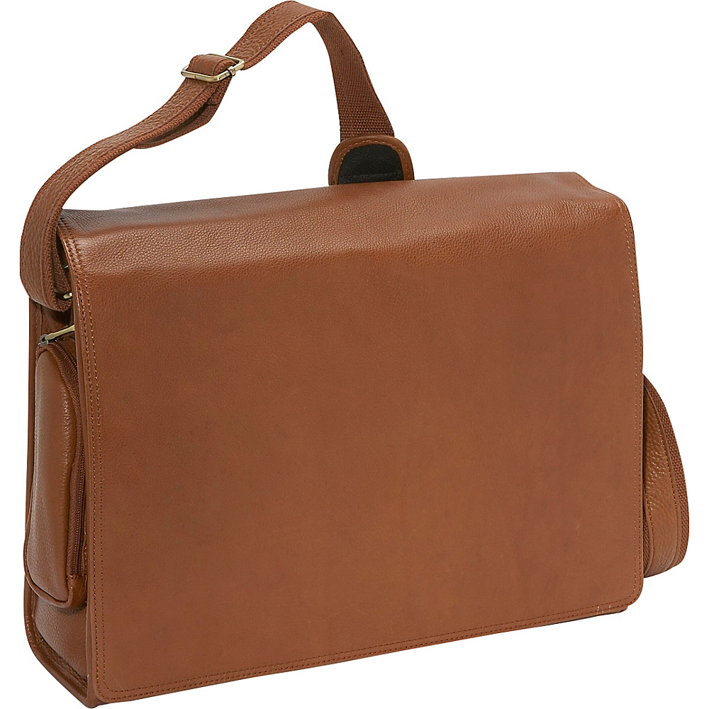 Bellino The Cancun Leather Computer Sling - Tan - Work Bags & Briefcases, Messenger Bags