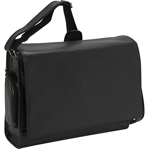 Bellino The Cancun Leather Computer Sling Black - Bellino Laptop Messenger Bags