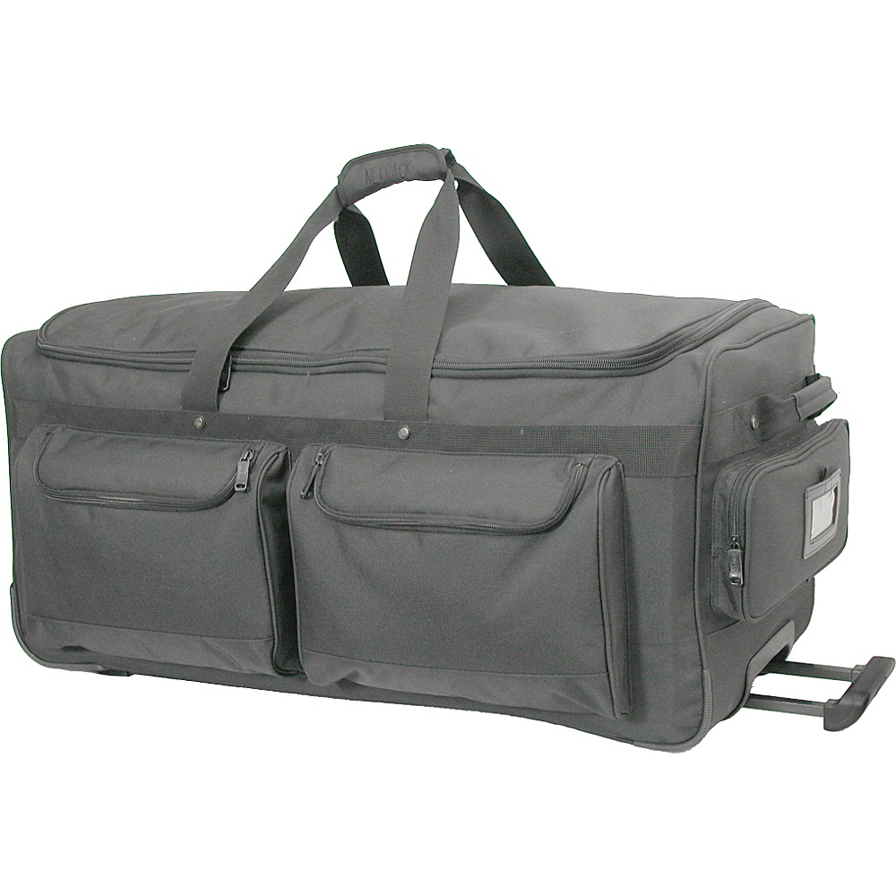 Netpack Deluxe Wheeled Duffel 35 - Black - Luggage, Rolling Duffels