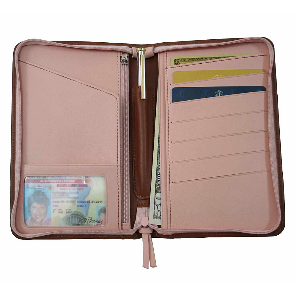Royce Leather Passport Travel Wallet - Tan - Travel Accessories, Travel Wallets