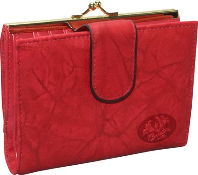 Buxton Heiress Double Cardex&trade-Exclusive Colors Red - Buxton Women's Wallets