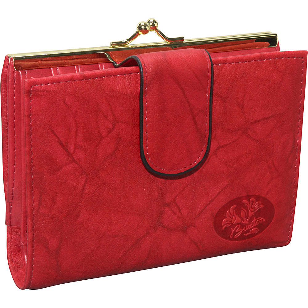 Buxton Heiress Double Cardex & trade-Exclusive Colors Red - Buxton Women's Wallets