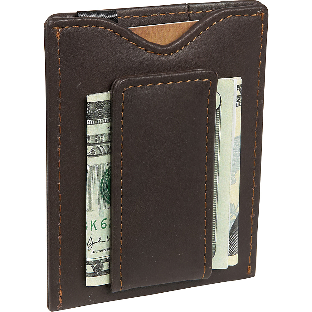 Dopp Regatta 88 Series Magnetic Money Clip - Mahogany - Work Bags & Briefcases, Men's Wallets