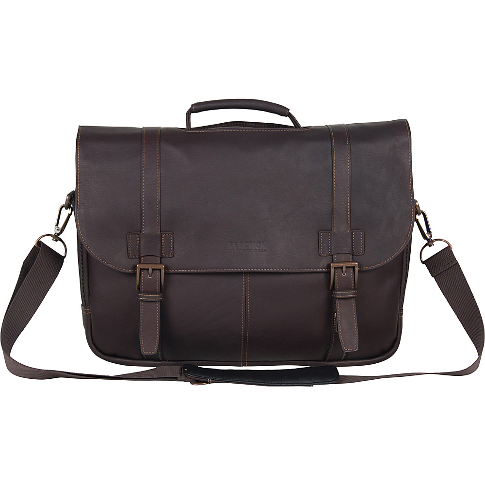 Kenneth Cole Reaction Columbian Leather Flapover - Work Bags & Briefcases, Non-Wheeled Business Cases