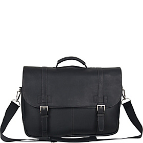 Show Business - Columbian Leather Flapover Computer Case Black