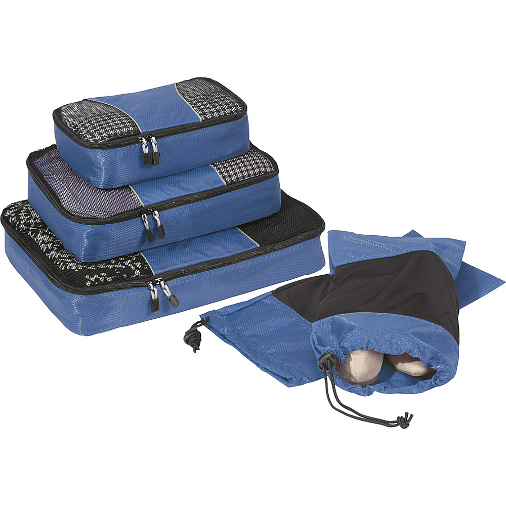 eBags Value Set: Packing Cubes + Shoe Sleeves Denim - eBags Travel Organizers - Travel Accessories, Travel Organizers