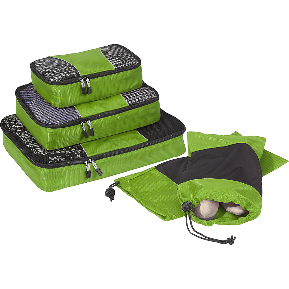 eBags Value Set: Packing Cubes + Shoe Sleeves Grasshopper - eBags Travel Organizers - Travel Accessories, Travel Organizers