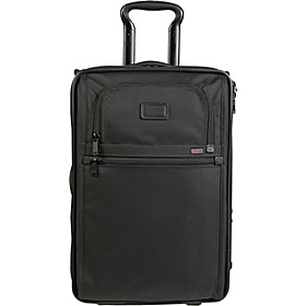 Alpha International 20'' Zippered Expandable Carry On Black