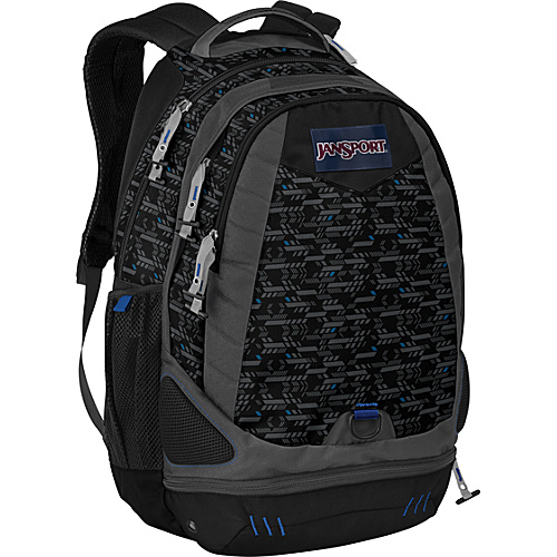 JanSport Boost - Blue Streak Gridlock - Backpacks, Laptop Backpacks