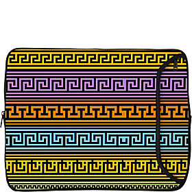 15'' Designer Laptop Sleeve Greek Patterns