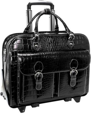 Siamod Monterosso Collection San Martino Ladies 14 inch Wheeled Laptop Case Black - Siamod Wheeled Business Cases