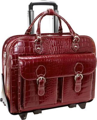 Siamod Monterosso Collection San Martino Ladies 14 inch Wheeled Laptop Case Cherry Red - Siamod Wheeled Business Cases