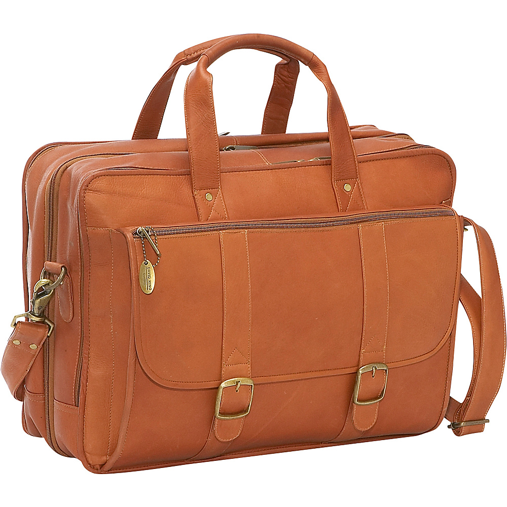 David King & Co. Expandable Laptop Briefcase Tan - David King & Co. Non-Wheeled Business Cases - Work Bags & Briefcases, Non-Wheeled Business Cases