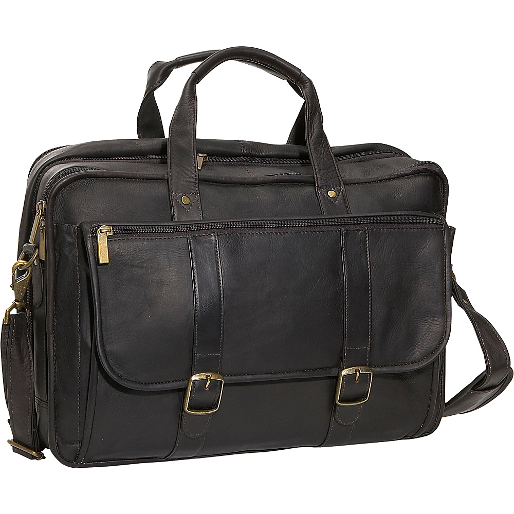 David King & Co. Expandable Laptop Briefcase Cafe - David King & Co. Non-Wheeled Business Cases - Work Bags & Briefcases, Non-Wheeled Business Cases