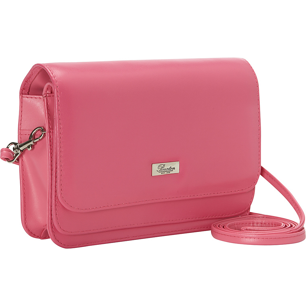 Buxton Double-Flap Mini-Bag with Total Wallet Organization Dragon Lily - Buxton Leather Handbags
