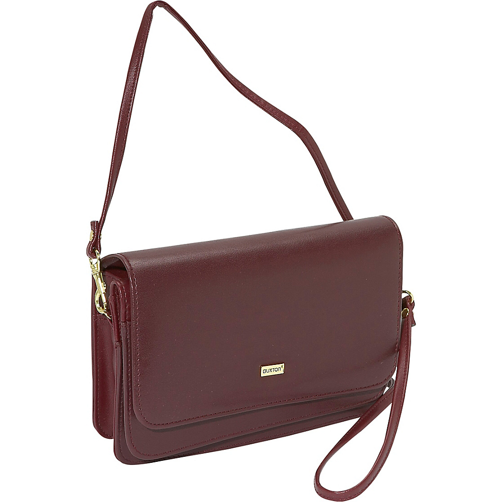 Buxton Double-Flap Mini-Bag with Total Wallet - Handbags, Leather Handbags
