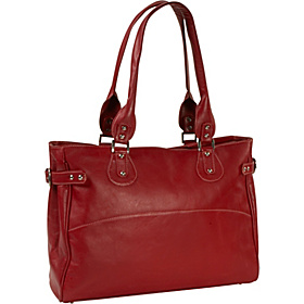 Ladies Large Side Strap Laptop Tote Red