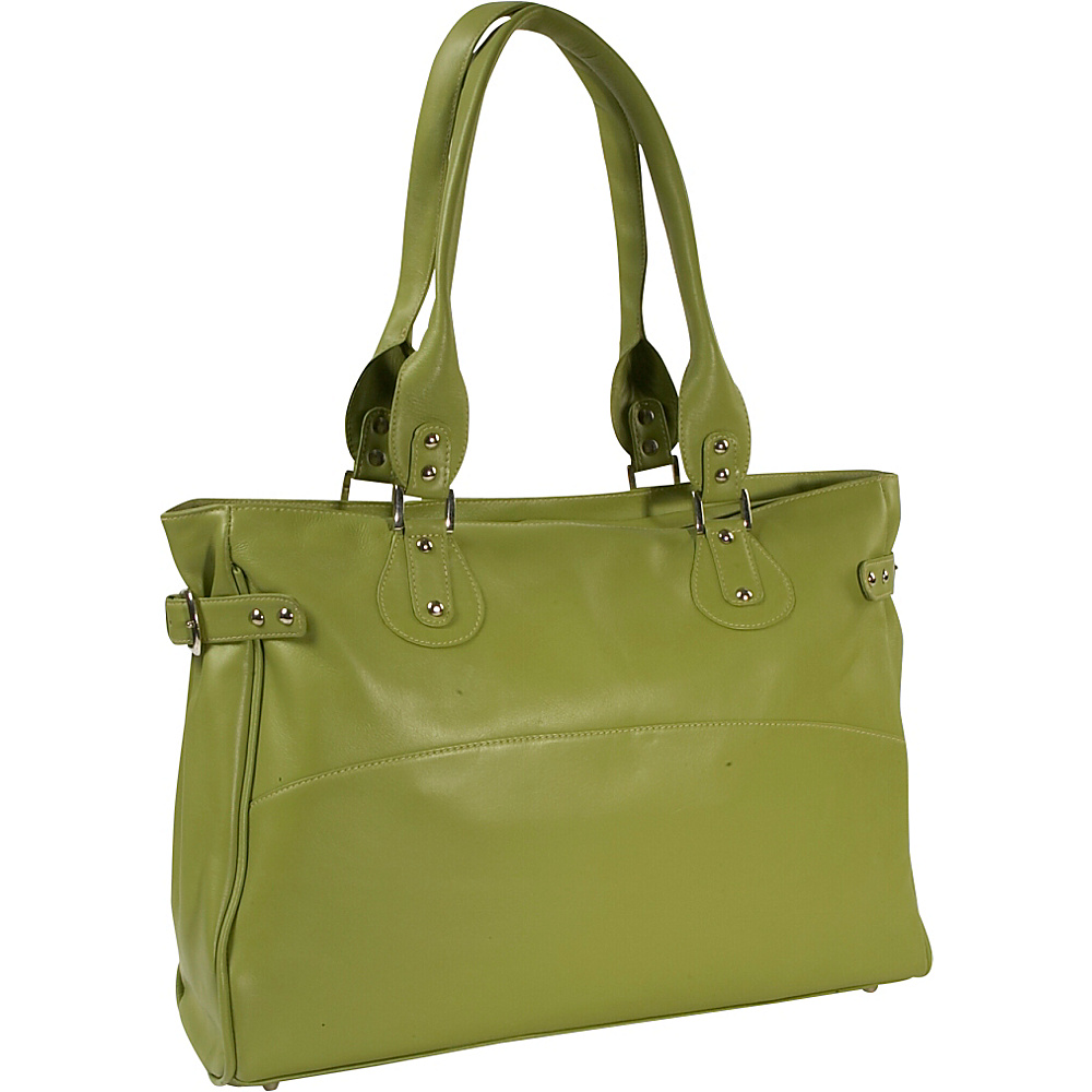 Piel Ladies Large Side Strap Laptop Tote - Apple