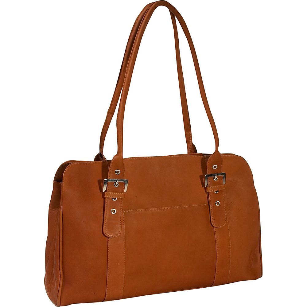 Piel Leather Working Tote Bag - Saddle