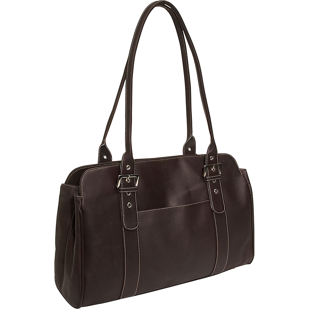 Piel Leather Working Tote Bag - Chocolate - Work Bags & Briefcases, Women's Business Bags
