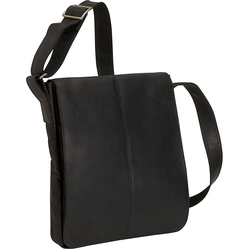David King & Co. Small Vertical Messenger Bag Black - David King & Co. Messenger Bags - Work Bags & Briefcases, Messenger Bags