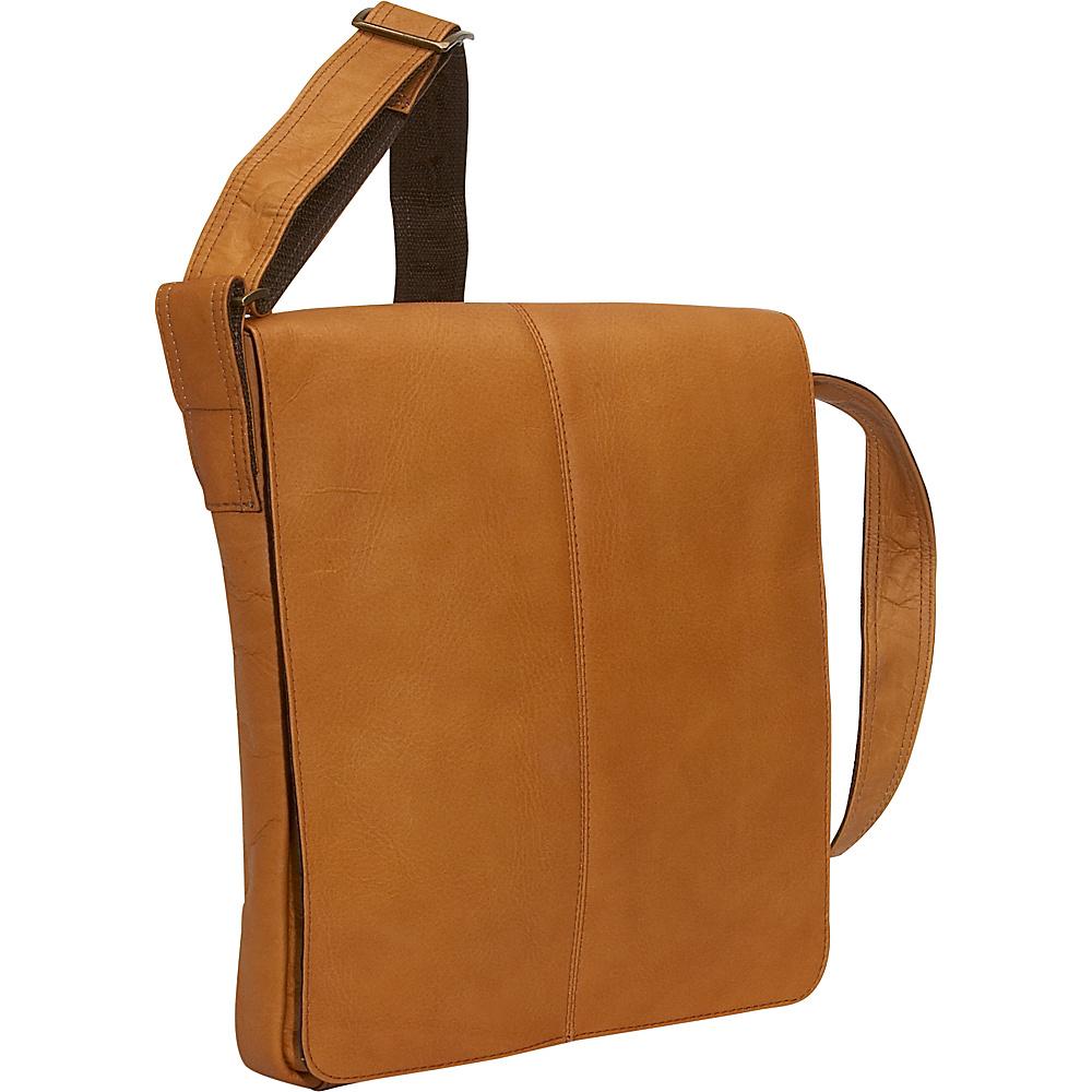 David King & Co. Small Vertical Messenger Bag Tan - David King & Co. Messenger Bags - Work Bags & Briefcases, Messenger Bags