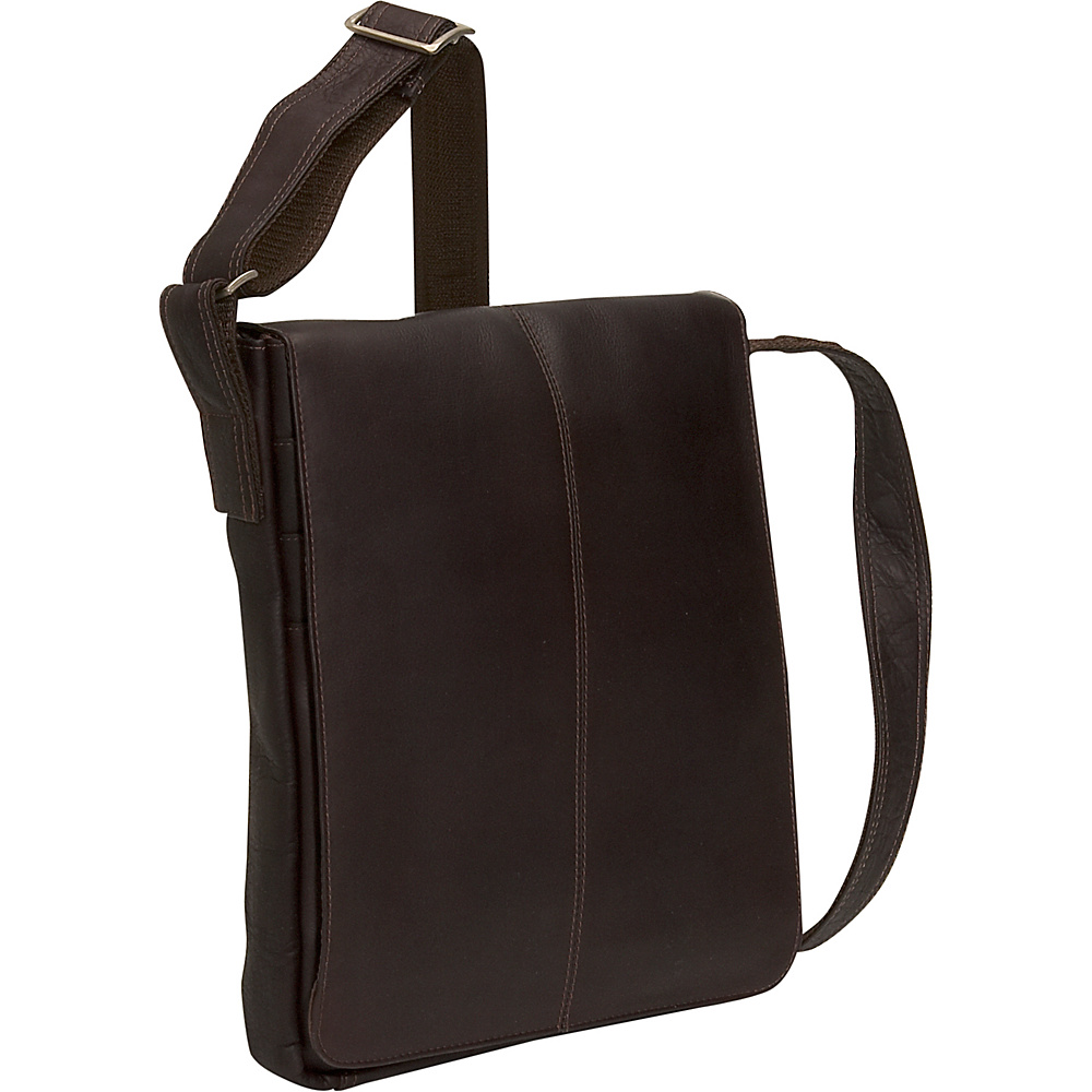 David King & Co. Small Vertical Messenger Bag Cafe - David King & Co. Messenger Bags - Work Bags & Briefcases, Messenger Bags