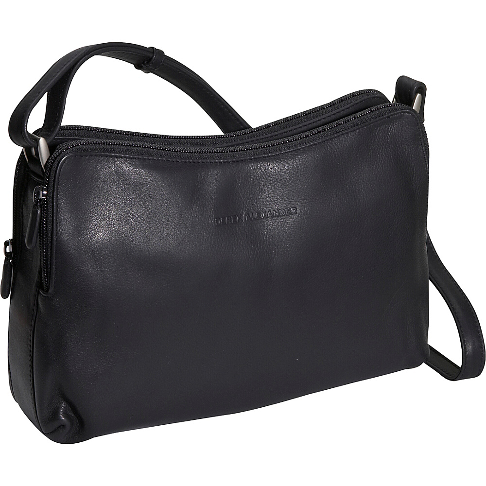 Derek Alexander Double zip Handbag - Black - Handbags, Leather Handbags