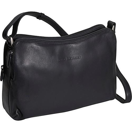 Derek Alexander Double zip Handbag - Black