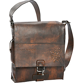Messenger Bag Brown Cracked Leather