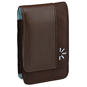 Ultra Compact Leather Camera Case Brown