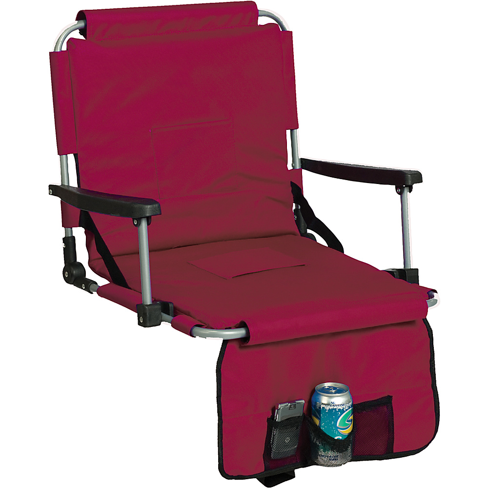 Picnic Plus Stadium Seat - Maroon - Outdoor, Outdoor Accessories