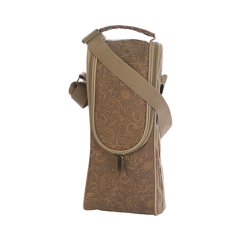 Picnic Plus Single Bottle Carrier Distressed Tan