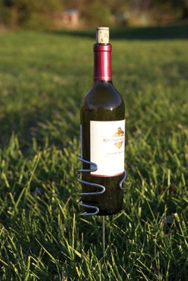 Picnic Plus Wine Bottle Holder - Silver