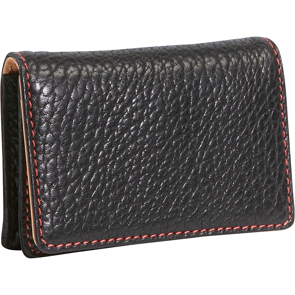 TUSK LTD Amsterdam Gusseted Business Card Case Black - TUSK LTD Business Accessories - Work Bags & Briefcases, Business Accessories
