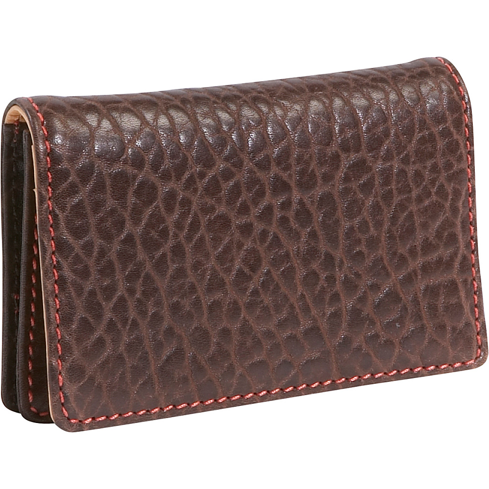 TUSK LTD Amsterdam Gusseted Business Card Case Chocolate - TUSK LTD Business Accessories - Work Bags & Briefcases, Business Accessories