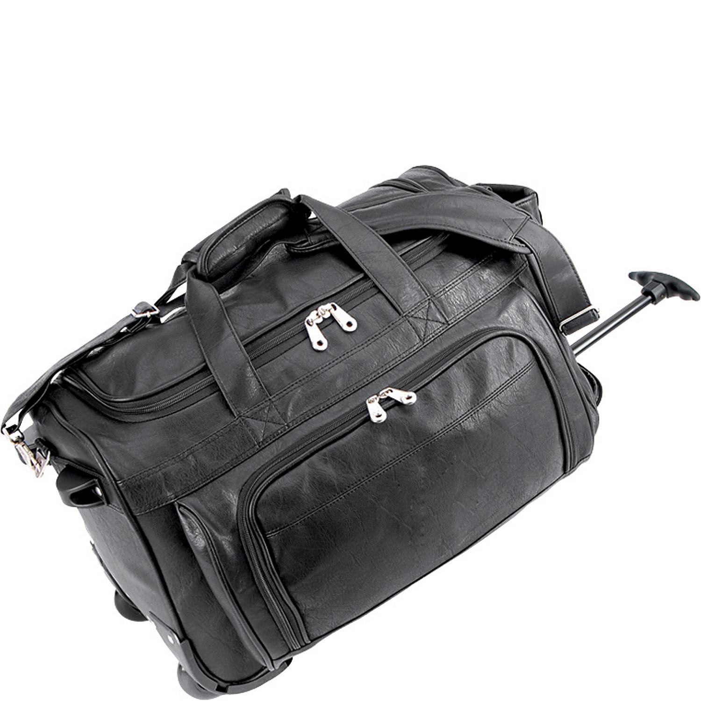u s traveler koskin leather rolling carry on duffel bag On koskin leather