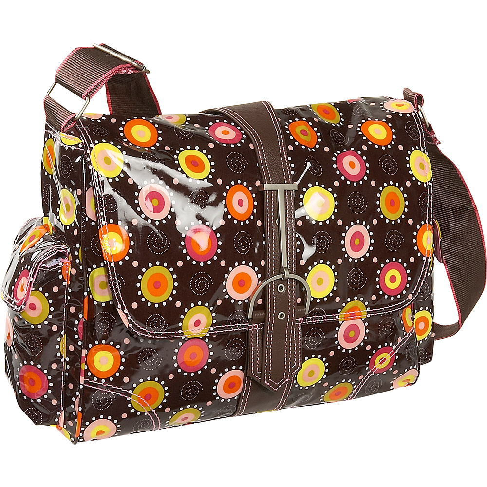 Hadaki Multitasker Print Large - Chocolate/Pink - Work Bags & Briefcases, Messenger Bags