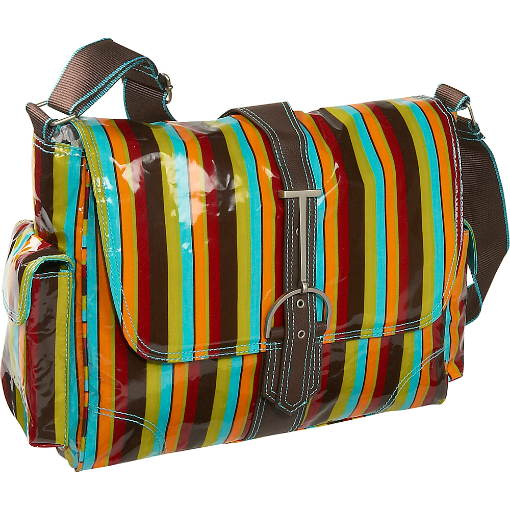 Hadaki Multitasker Print Large - Multi Colored Stripes - Work Bags & Briefcases, Messenger Bags