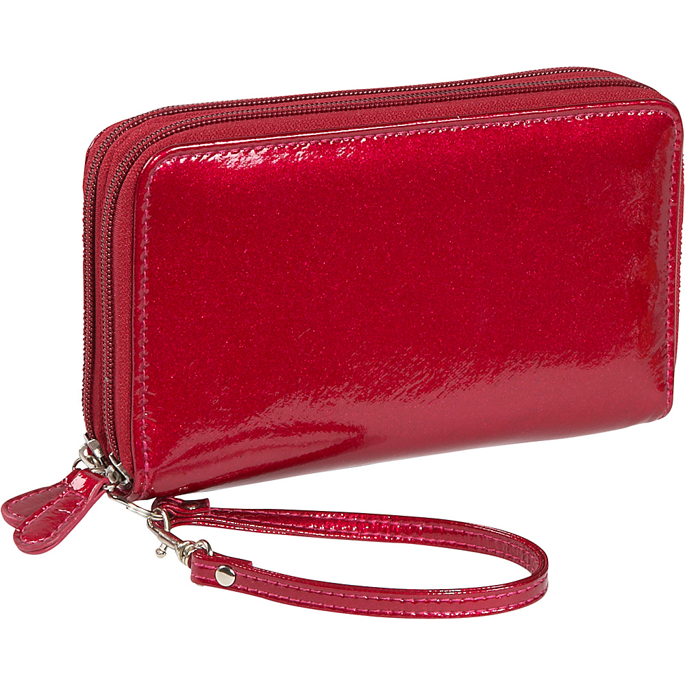 Soapbox Bags All in One Wallet Red Pink Glitter