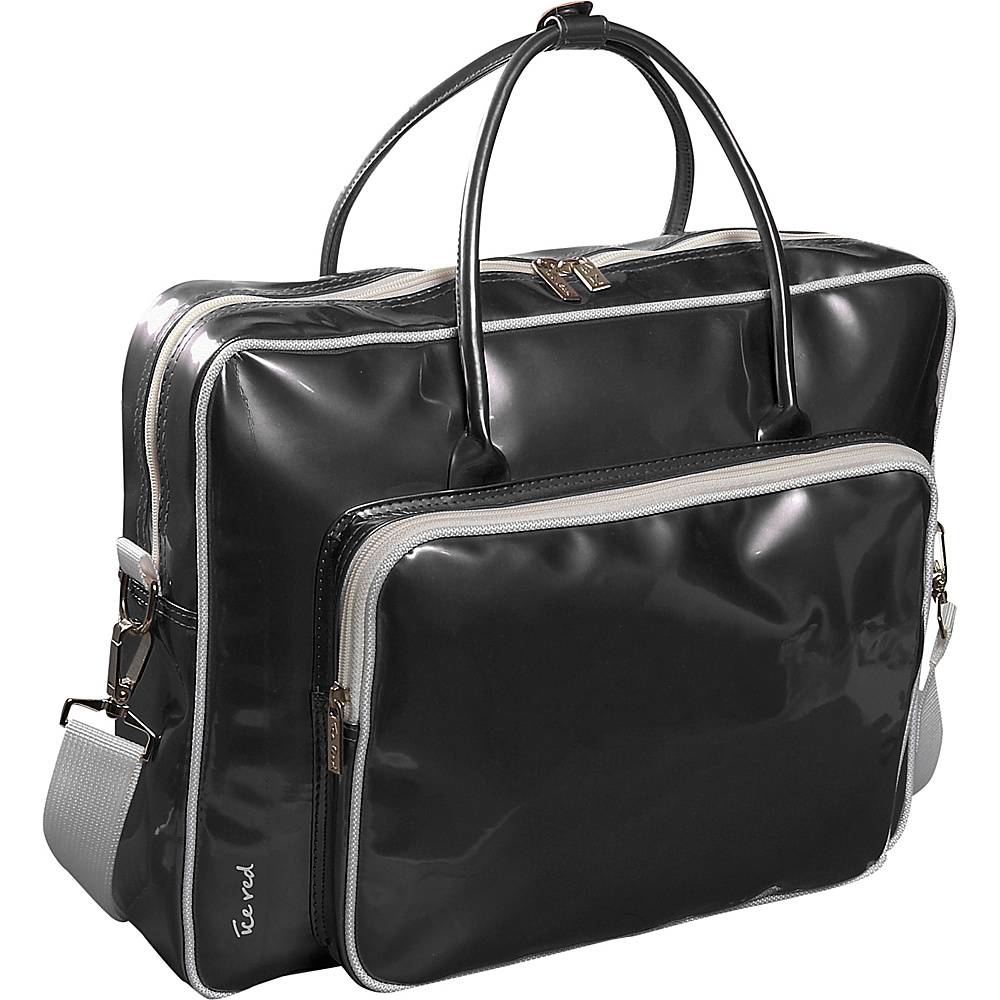 Ice Red Shine Glossy Laptop Tote - Black - Work Bags & Briefcases, Non-Wheeled Business Cases
