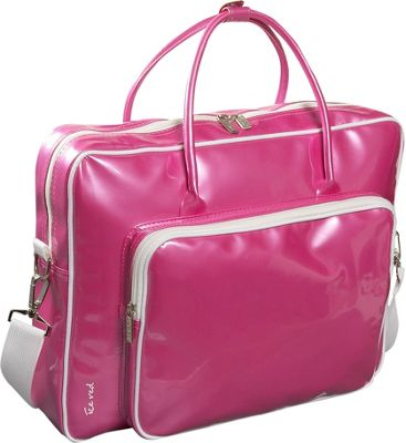 Ice Red Shine Glossy Laptop Tote - Pink