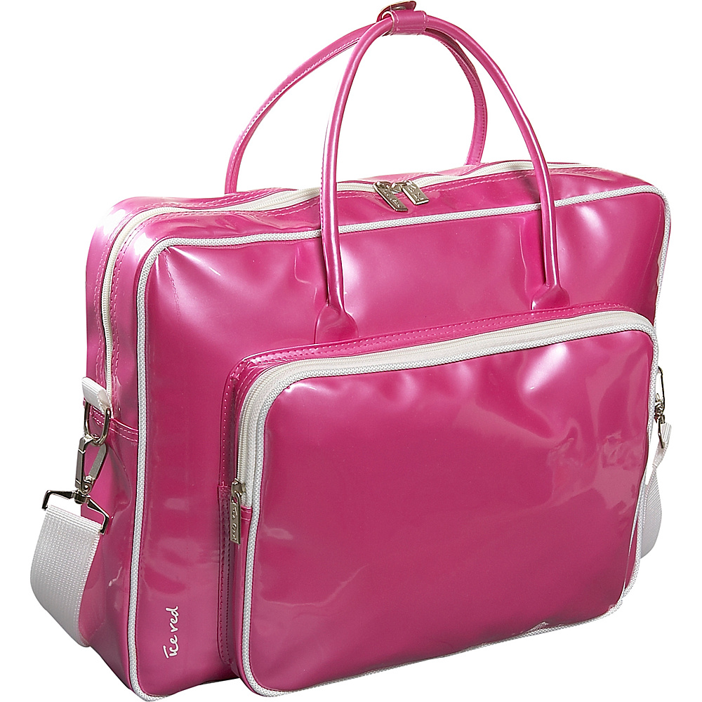 Ice Red Shine Glossy Laptop Tote - Pink - Work Bags & Briefcases, Non-Wheeled Business Cases