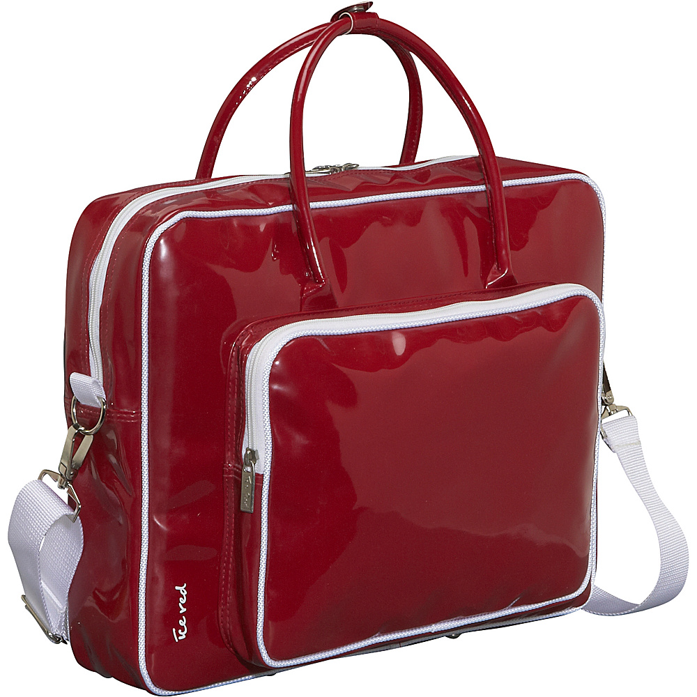 Ice Red Shine Glossy Laptop Tote - Red - Work Bags & Briefcases, Non-Wheeled Business Cases