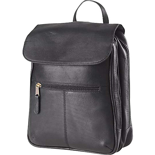 Clava Flap Organizer Backpack - Vachetta Black