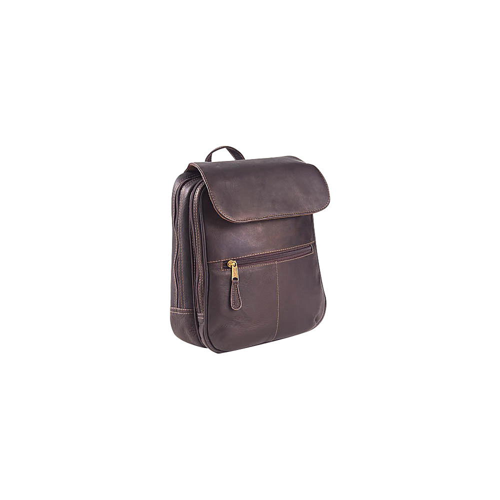 Clava Flap Organizer Backpack - Vachetta Cafe - Backpacks, Everyday Backpacks