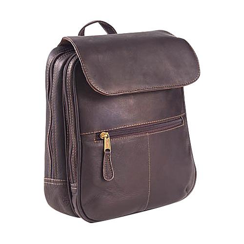 Clava Flap Organizer Backpack - Vachetta Cafe